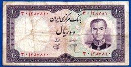 Iran -  10 Rials 1961-  Pick # 71  - état  TB - Iran