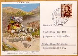 Schweiz Suisse Svizzera 1942: Tag Der BM Journée Du Timbre DIE GOTTHARDPOST (R.Koller) O GENÈVE 6.XII.42 (Zu CHF 70.00) - Tag Der Briefmarke