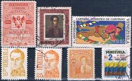Venezuela 1948 / 82  -  Michel   271 + 526 + 969 + 972 + 1107 +  AEREOS  937  ( Usados ) - Venezuela
