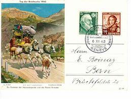 Schweiz Suisse Svizzera 1942:  Tag Der BM Journée Du Timbre DIE GOTTHARDPOST (R.Koller) O GENÈVE 6.XII.42 (Zu CHF 70.00) - Pro Juventute