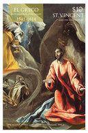 St Vincent 2014 - Art, Peintures De El Greco II - BF Neuf // Mnh - St.Vincent & Grenadines