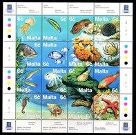 Serie De Malta N ºYvert 1051/66 ** PECES (FISHES)1 - Malta
