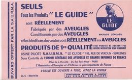 """Buvard S.A.U.R.M.A """"le Guide"""" Fabriqué Par Des Aveugles - Blotters"""