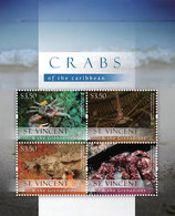 St Vincent 2013 - Faune Marine, Crabes - BF 4 Val Neuf // Mnh - St.Vincent & Grenadines