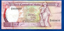 Malte -  2 Liri -  - état  TB+ - Malta