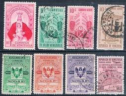 Venezuela 1953 / 59  -  Michel   421 + 523 + 526 + 548 + 581  +  AEREOS  537 + 559 + 666    ( Usados ) - Venezuela