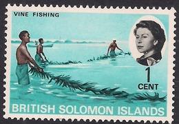 British Solomon Islands 1968 QE2 1ct Vine Fishing MM SG 166 ( L1070 ) - British Solomon Islands (...-1978)