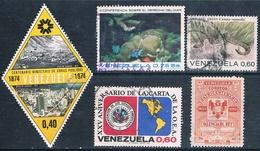 Venezuela 1955 / 74  -  Michel   526 + 856 + 929 + 948    ( Usados ) - Venezuela