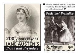 St Vincent 2013 - Littérature, Jane Austen's II - BF Neuf // Mnh - St.Vincent & Grenadines