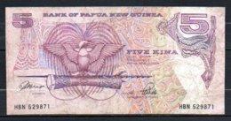622-Papouasie-Nouvelle-Guinée Billet De 5 Kina 1992 HBN529 Sig.3 - Papouasie-Nouvelle-Guinée
