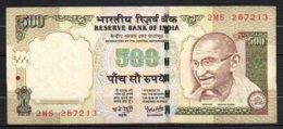 Inde Billet De 500 Rupees 2008 2MS287 - Inde