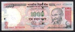 Inde Billet De 1000 Rupees 2009 6AS672 - Inde