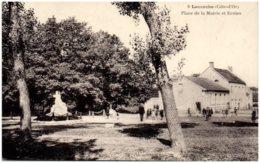 21 LACANCHE - Place De La Mairie Et Ecoles - Autres Communes