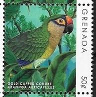 GRENADA, 2018, MNH, BIRDS, DEFINITIVES, PARROTS, 1v - Pappagalli & Tropicali