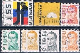 Venezuela 1976  -  Michel   968 + 969 + 971 + 972 + 975 + 1002 + 1007    ( Usados ) - Venezuela
