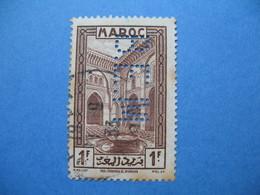 Perforé Perfin Maroc, Perforation :   BEM 7   à Voir - Maroc (1891-1956)