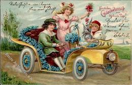 Glückwunsch Auto Kinder  Prägedruck 1907 I-II - Baumgarten, F.