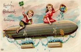 Glückwunsch Ballon Kinder  Prägedruck 1911 I-II - Baumgarten, F.