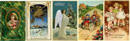 Glückwunsch Partie Mit Circa 40 Präge-Karten Mit Je Gold Oder Silberdruck I-II - Baumgarten, F.
