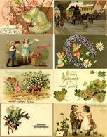 Glückwunsch Partie Mit über 110 Ansichtskarten Meist 1900 Bis 1920 Dabei Sehr Schöne Lithos Und Präge-Karten I-II - Baumgarten, F.