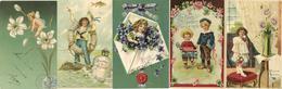 Glückwunsch Partie Mit über 90 Präge-Karten Um 1900 Bis 1920 I-II - Baumgarten, F.