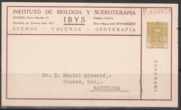 Ybys, Tarjeta Postal Iniciativa Privada. - Cartas