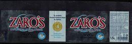 Grèce Etiquette Eau Minérale Naturelle Water Zaro's - Etiquetas