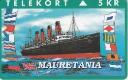 TARJETA DE DINAMARCA CON UN BARCO DE TIRADA 2500 (SHIP)  MAURETANIA - Boats