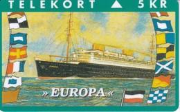 TARJETA DE DINAMARCA CON UN BARCO DE TIRADA 2000 (SHIP)  EUROPA - Boats