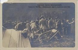 Italia Cartolina Illustrata 1910 Chavez Caduto A Domodossola Dopo La Traversata Delle Alpi Viaggiata 29 Settembre 1910 - Aviatori