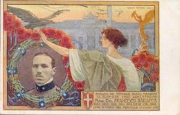 Italia Cartolina Illustrata Omaggio A Francesco Baracca Viaggiata 1920 - Aviatori