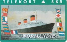 TARJETA DE DINAMARCA CON UN BARCO DE TIRADA 2500 (SHIP)  NORMANDIE - Boats