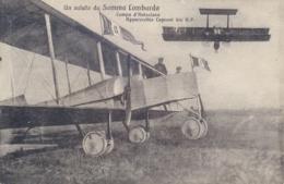Italia Cartolina Illustrata Somma Lombarda Campo D'Aviazione Apparecchio Caproni 300 H. P. Viaggiata 1922 - Aerodromi