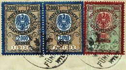 3 X Austrian Duty Stamp Oesterreichische Gebührenmarke Hietzing Vienna 1925 - Lettres & Documents