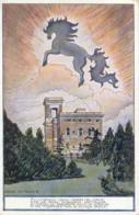 Italia Cartolina Illustrata Il Cavallino Di Francesco Baracca Viaggiata 1935 - Aviatori