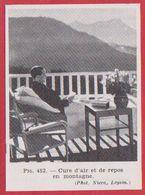 Cure D'air Et De Repos En Montagne. Leysin. Suisse. Larousse Médical De 1974. - Vieux Papiers