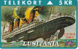 TARJETA DE DINAMARCA CON UN BARCO DE TIRADA 2000 (SHIP)  LUSITANIA - Boats