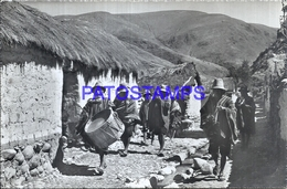 111005 PERU OCONGATE COSTUMES MUSIC MUSICOS INDIOS POSTAL POSTCARD - Peru