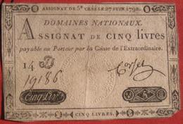 Assignat - 5 Livres 1792 (WPM A60) - Assignate