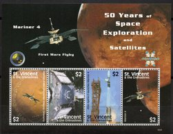St Vincent 2008 - Exploration Spatial, Satellites, Année Polaire Internationale - BF 4 Val Neuf // Mnh - St.Vincent & Grenadines
