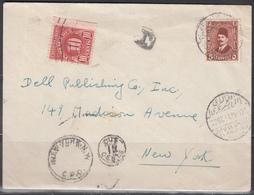 Carta Circulada A New York, Sello Tasa, - Egipto