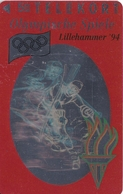 TARJETA DE DINAMARCA DE LAS OLIMPIADAS DE TIRADA 6000 (SHIP) (OLYMPISCHE SPIELE) ESQUI - Dinamarca