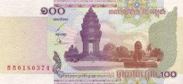 Cambodia 100 Riels, P-53 (2001) - UNC - Kambodscha