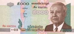 Cambodia 5.000 Riels, P-55a (2001) - UNC - Kambodscha