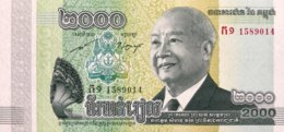 Cambodia 2.000 Riels, P-64 (2013) - UNC - Kambodscha