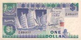 Singapore 1 Dollar, P-18a (1987) - UNC - Singapore