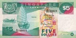 Singapore 5 Dollars, P-19 (1989) - UNC - Singapore