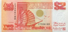 Singapore 2 Dollars, P-27 (1990) - UNC - Singapore