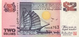 Singapore 2 Dollars, P-28 (1992) - UNC - Singapore