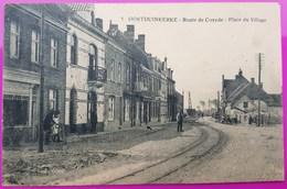 Cpa Oostduinkerke Route De Coxyde Place Du Village Rare Carte Postale Belgique Flandre Occidentale - Oostduinkerke